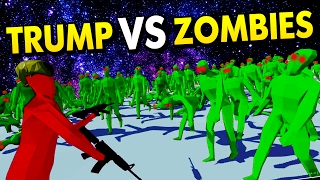 TABS - TRUMP VS ZOMBIES! TABS ZOMBIE APOCALYPSE! (Totally Accurate Battle Simulator