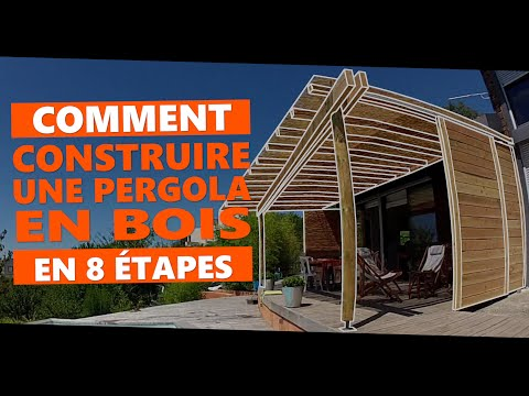 comment construire une pergola en bois en 8 tapes youtube. Black Bedroom Furniture Sets. Home Design Ideas