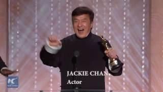 Jackie Chan receives Academy's Governors Award成龙获奥斯卡终身成就奖