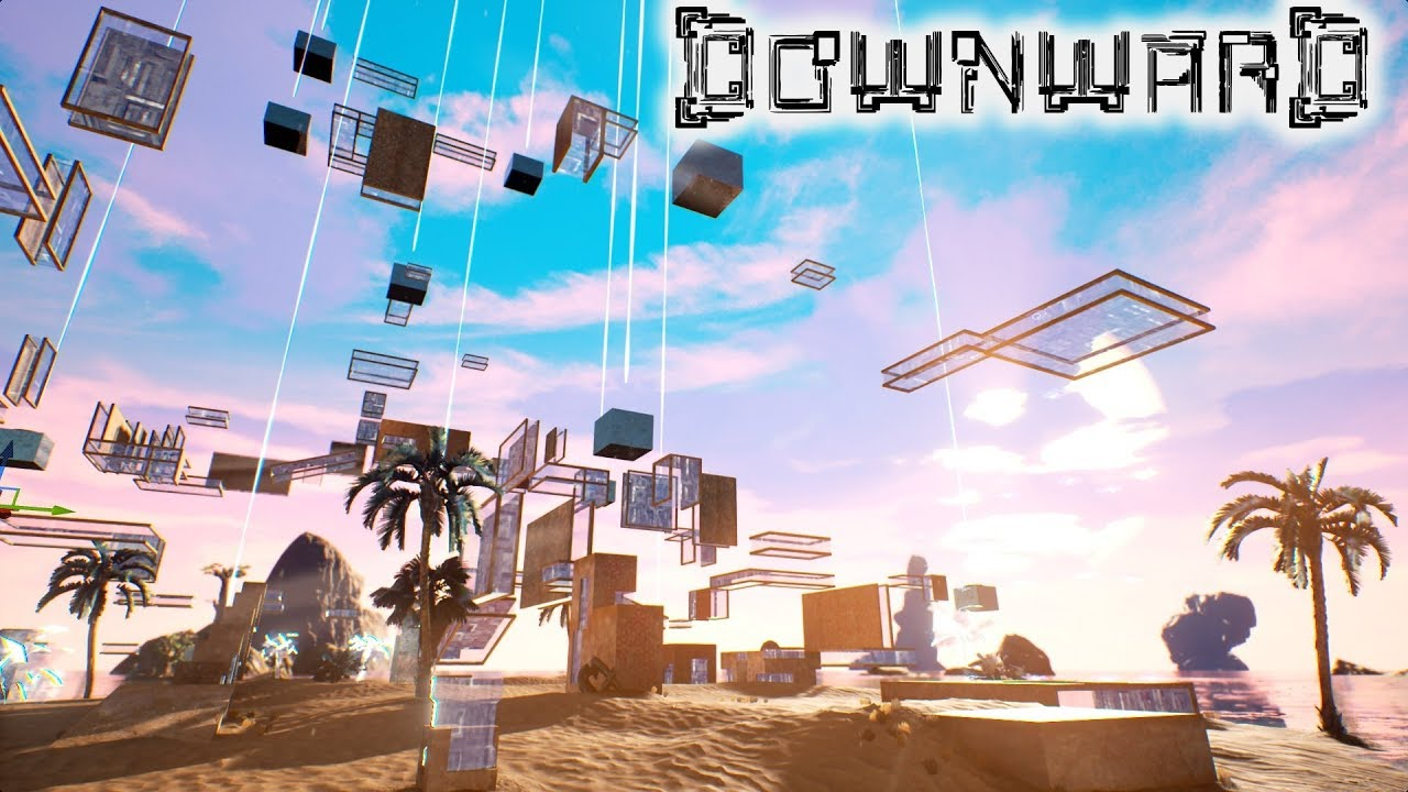 Crazy First Person Parkour Game: DOWNWARD