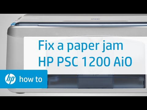 Fixing a Paper Jam - HP PSC 1200 All-in-One Printer