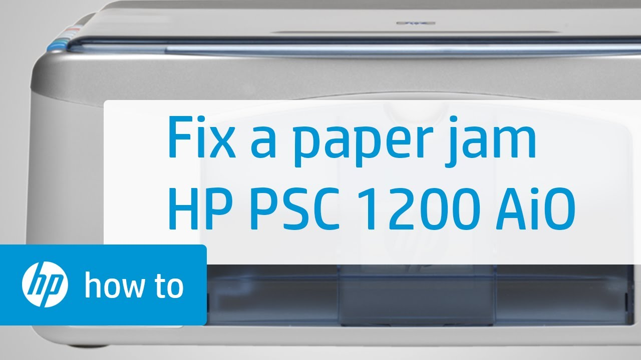 Fixing a Paper Jam   HP PSC 1200 All in One Printer   YouTube