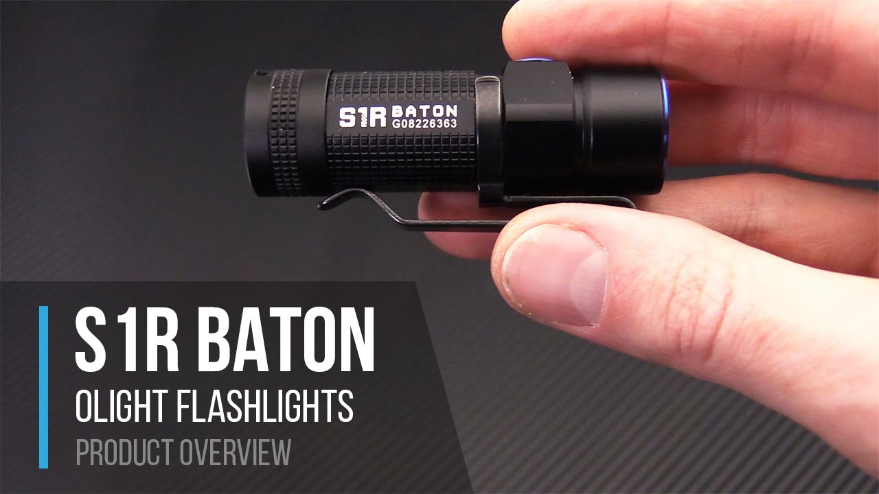 Olight S1r Baton Rechargeable 900 Lumen Flashlight Overview Youtube Single Cell Led