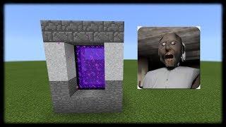 - Как Сделать Портал в Мир Гренни Дом Granny в Майнкрафт ПЕ Что скрывает от нас GRANNY Minecraft PE
