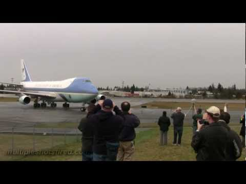 Air Force One Arrives at Everett