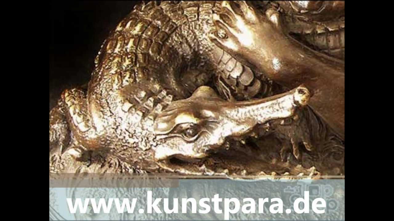 Tierfiguren aus bronze hunde l we krokodil puma raubkatze for Tiere aus rostigem metall