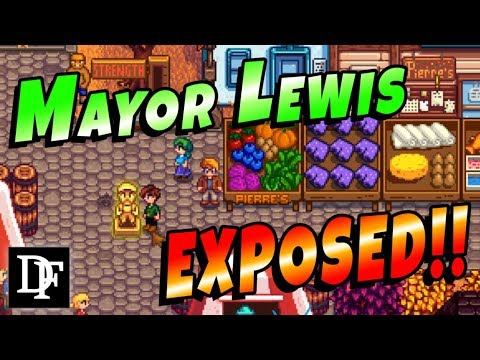 Mayor Lewis Exposed! Gold Statue Event! - Stardew Valley 1.3