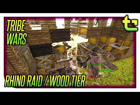 Ark Tribe Wars || First Raid / Offensive Wood Tier Raid || TimmyCarbine