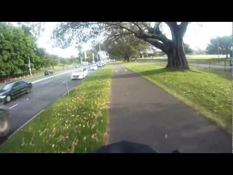 Morning bike commute through Sydney