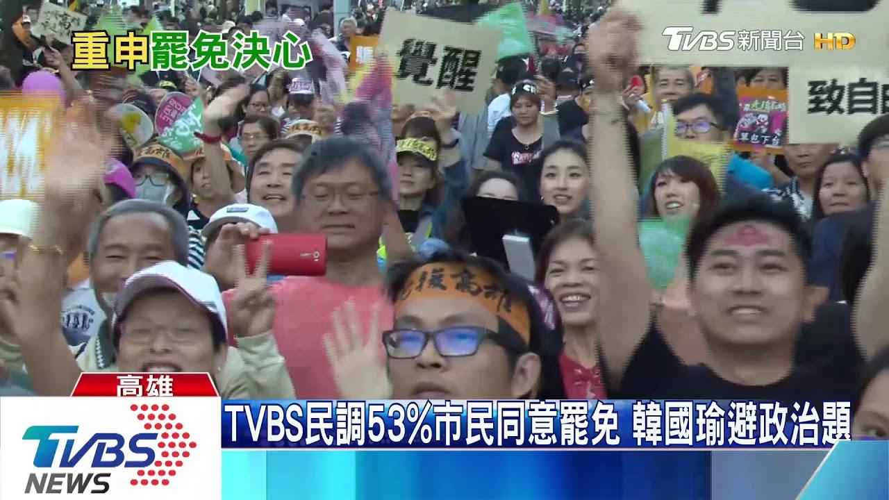 TVBS民調53%市民同意罷免 韓國瑜避政治題 - YouTube