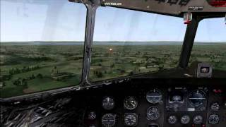 A short flight with the DC 3 (FSX)