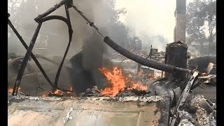 WINE COUNTRY FIRE:  Atlas Peak wildfire destroys homes and damage golf course at Silverado