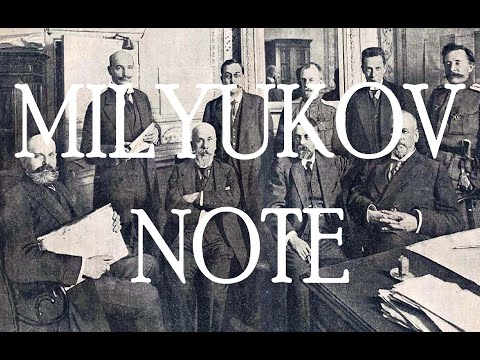 What was the Milyukov Note? - Provisional Government of Russia (1917)