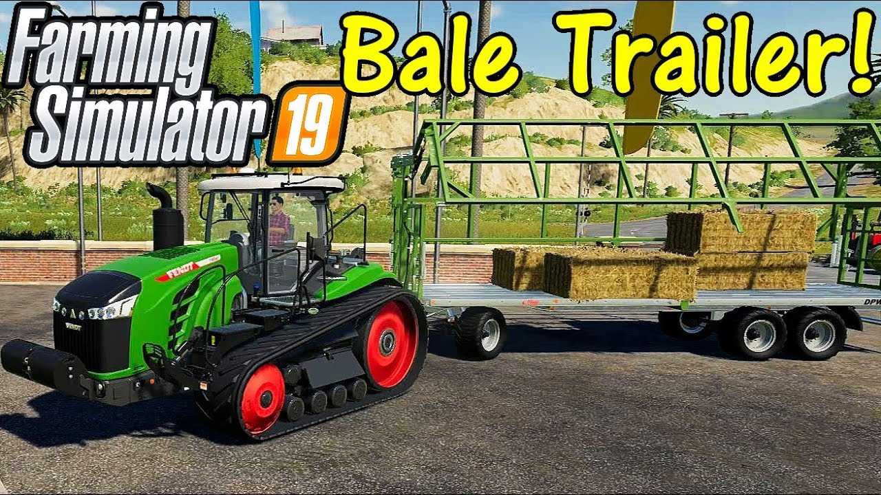 FS19 Garage Tour #8: The Bale Trailer!