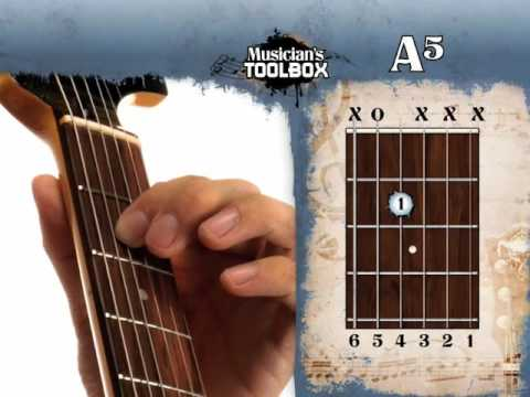 How to play the A power chord on guitar A5 - YouTube