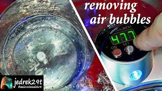 How to Remove AIR BUBBLES from Resin. ULTRASONIC