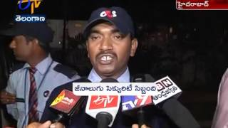 G4S private security Protests In Hyderabad