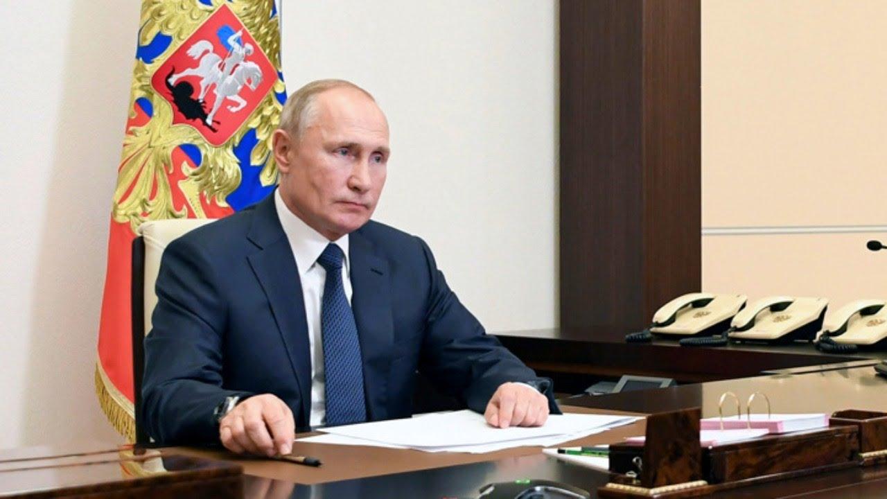 Владимир Путин выступает на Саммите лидеров по вопросам климата от 22.04.21