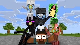Monster School : BABY MONSTERS CHALLENGE - Minecraft Animation