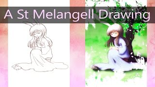 Colouring My St Melengell Drawing