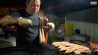 Taiwan Street Food: Grilled Pork & Sausages