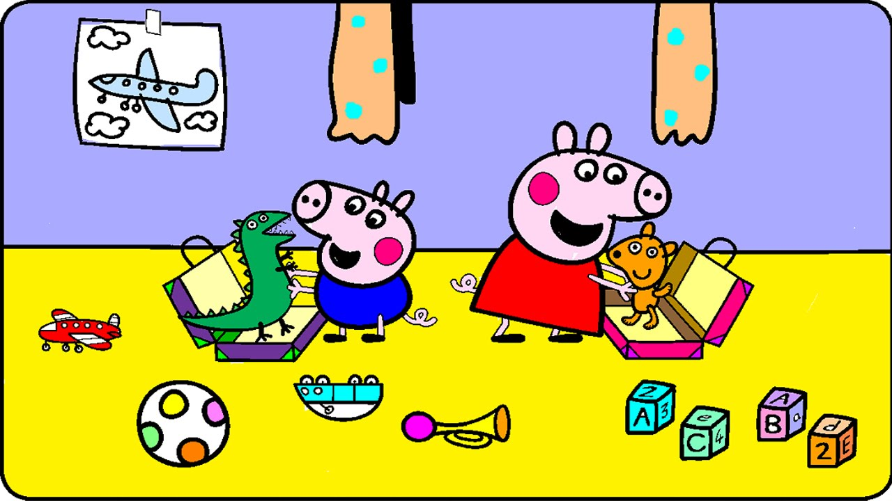 - Peppa Pig Coloring Pages For Kids - Peppa Pig Coloring Games