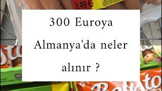 300 euro ya neler alınır? | Almanyada alışveriş .