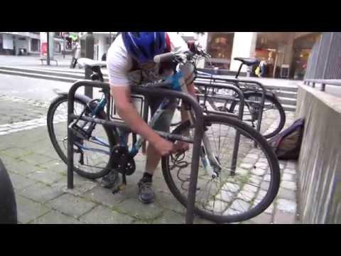 Drei Tage bis zur B7-Sperrung - Fahrrad sicher abschließen