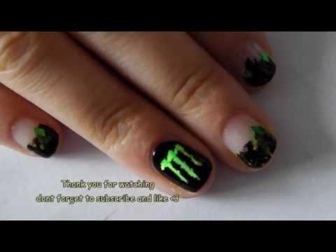 Monster Energy Nail Art Tutorial Food Drinks No 1
