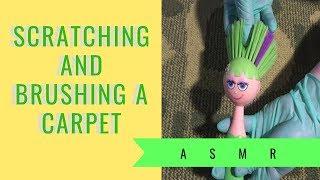 ASMR 💜💚Scratching & Brushing A Carpet💚💜