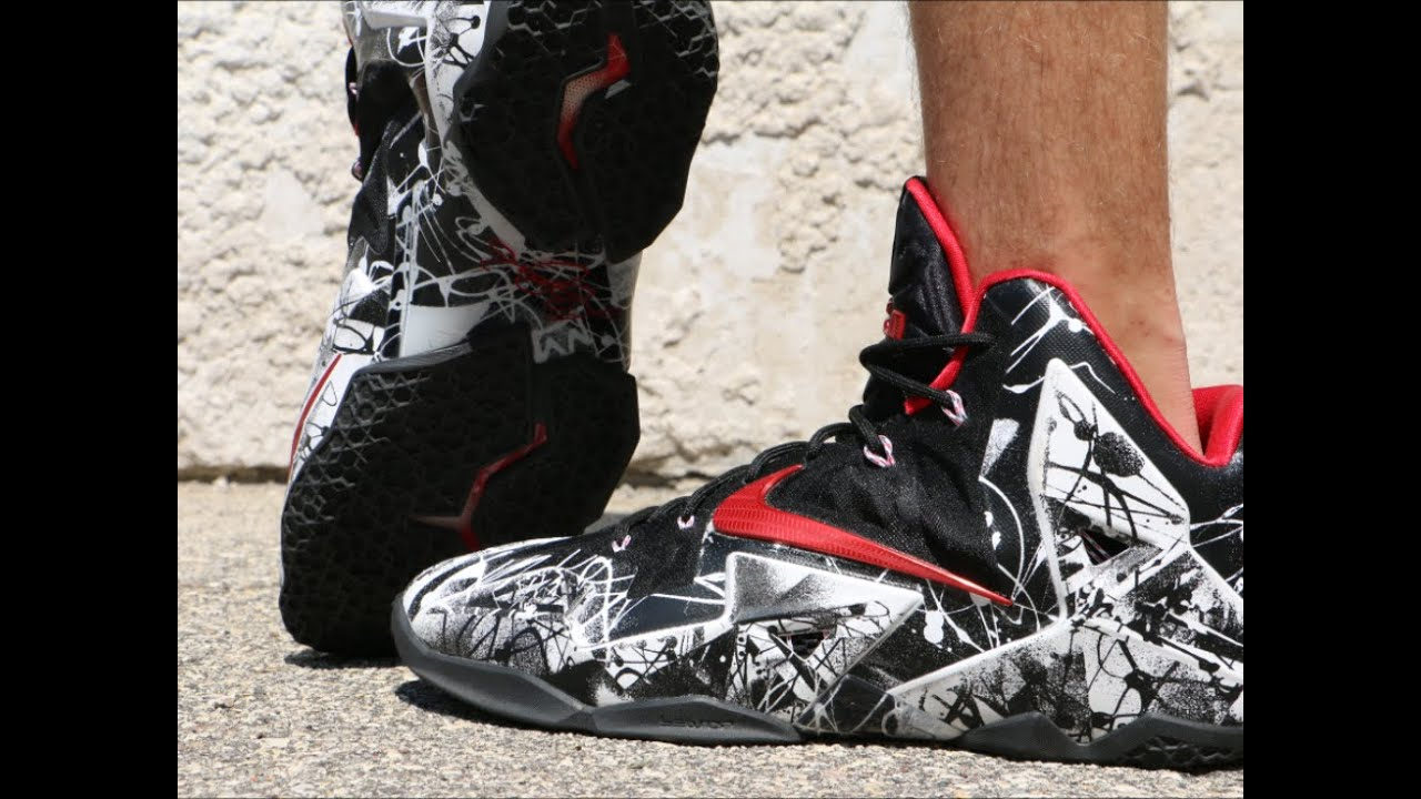 Nike LeBron 11 Graffiti - On Foot - YouTube 605a169a8d15