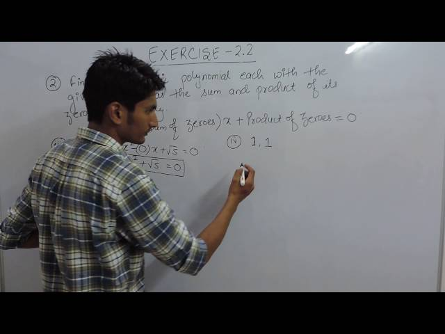 Exercise 2.2 Polynomials Question 2 (iii, iv) NCERT/CBSE Solutions for Class 10th Maths