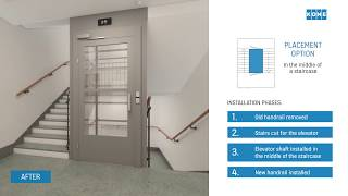 Option 2 - How to install an elevator to a building without one?