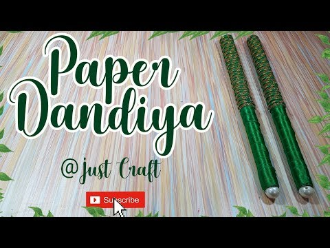How to make Dandiya Sticks from waste newspaper | Navratri craft | Best out of waste | Just Craft