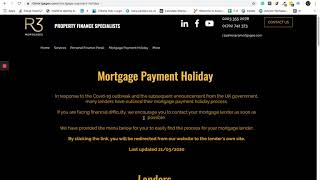 Mortgage Payment Holiday UK - How To Find Your Lenders Process