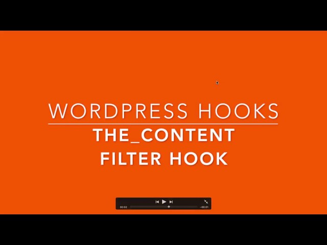 WordPress Filter Hook the content Part-35 Example