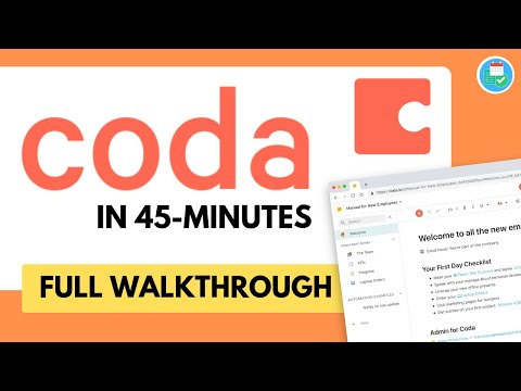 Coda in 45 minutes (with timestamps)