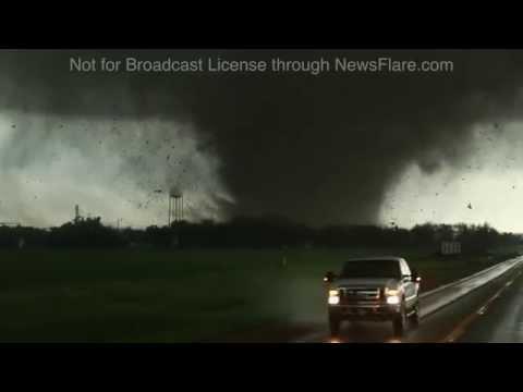 Buildings flying through the air! Deadly Nebraska Tornado