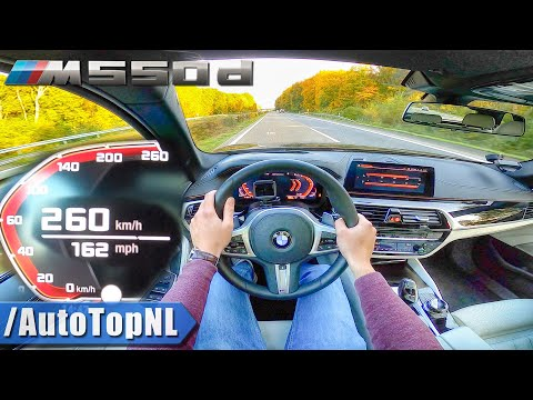 BMW M550d TOURING 400HP | TOP SPEED On AUTOBAHN (NO SPEED LIMIT) By AutoTopNL