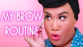 BROW ROUTINE TUTORIAL | PatrickStarrr