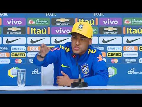 Neymar HUMILHA repórter em entrevista coletiva pela Seleção Brasileira