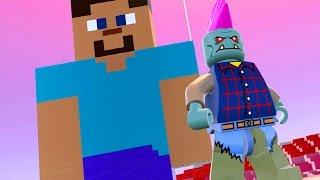 Lego worlds pt br #36 - fiz o steve de minecraft com lego