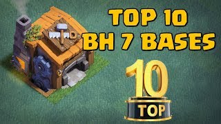TOP 10 BEST Builder Hall 7 BH7 Base Designs NEW CoC Builder Base Halloween Update  | Clash of Clans