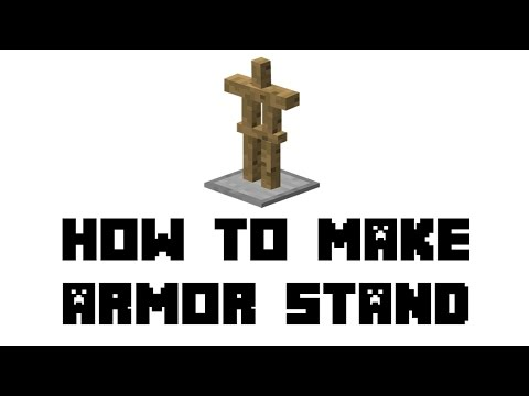 Minecraft Survival: How To Make Armor Stand