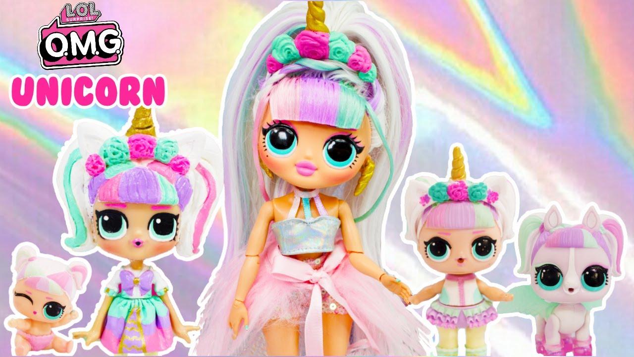 Lol Omg Makeover Diy Unicorn Big Sister Omg Fashion Doll Youtube