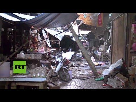 RT en Español: Una motocicleta bomba mata a tres civiles y hiere a 19 en Tailandia