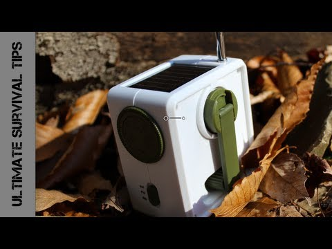 GREAT $15 Solar & Hand Crank Emergency Radio? - REVIEW - Ambient Weather Radio - WR-1059