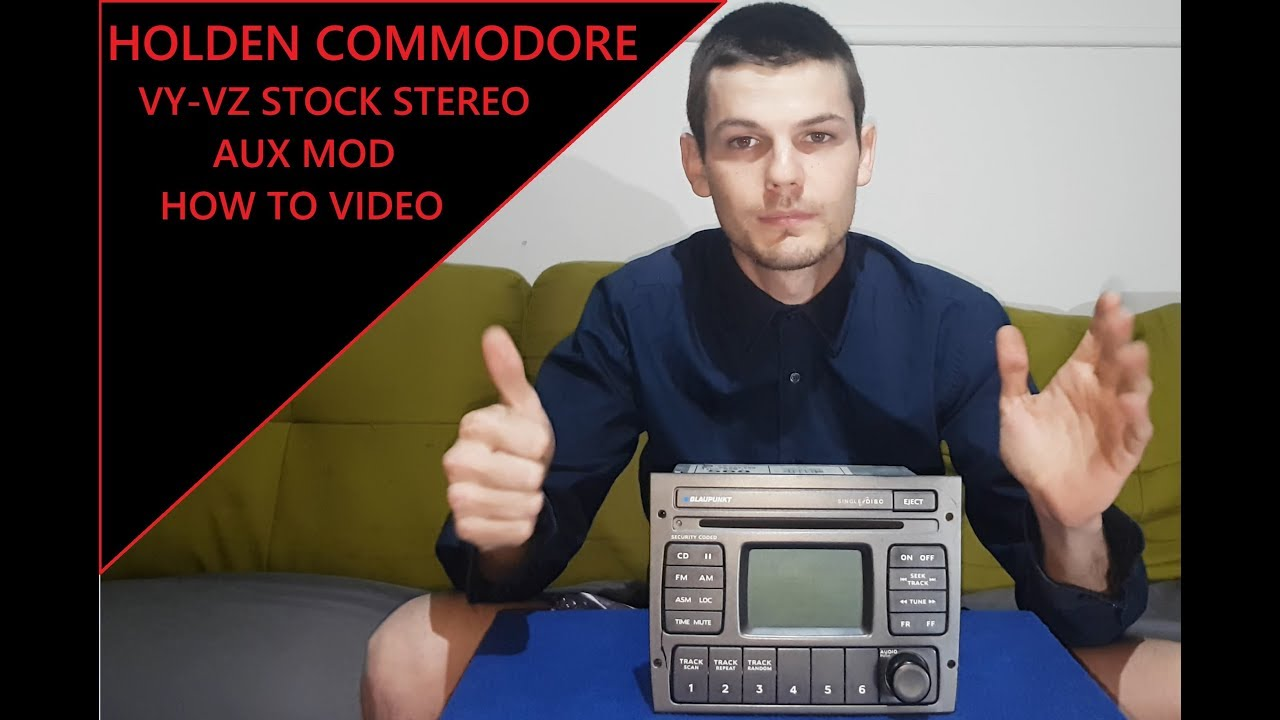 Vy Vz Stereo Wiring Diagram Avital 4103 Remote Start Holden Commodore Stock Aux Mod How To Video Youtube
