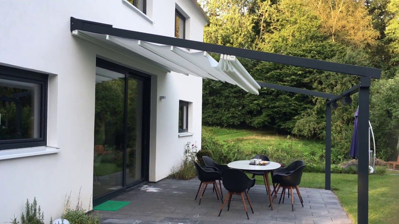 leiner pergola sunrain l terrassenfaltdach in wentorf eine geile markisen anlage youtube. Black Bedroom Furniture Sets. Home Design Ideas