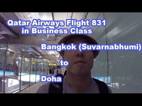 Qatar Airways Flight 831 Bangkok to Doha Business Class